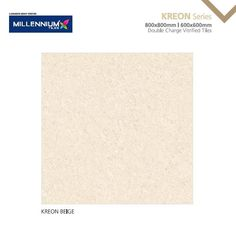 The Kreon Series impresses with its high-gloss surface and its unobtrusive #design.  Kreon Beige - Millennium Tiles Double Charge Vitrifed Porcelain Kreon #Tiles Series available in 2 formats: - 600x600mm (24x24) - 800x800mm (32x32)  Double Charge Vitrified Tiles are fed through a press that prints the pattern with a double layer of pigments, 3-4 mm thicker than other type of tiles. #mirrorglaze #porcelaintiles