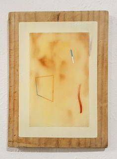 Nathan Suniula, 'Lean blue flesh', acrylic on bread board, 2016