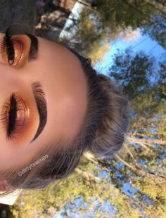 """""""used the @ABHcosmetics modern renaissance palette for this fall look """""""