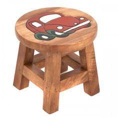 Just Kids Kinderhocker Diy Wooden Projects, Wooden Diy, Just Kids, Monkey Pod Wood, Diy End Tables, Kids Stool, Wood Stool, Into The Woods, Baby Room Decor