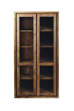 #Raft #furniture #reclaimed #teak #Hudson #2door #glass #cabinet