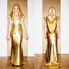 Annika Graalfs Couture goddess dress, made 2015. Foto: Marcus Zumbansen