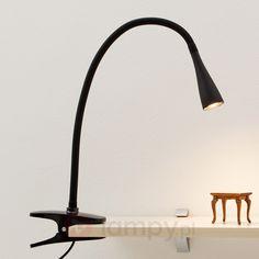 Led - tendril modern interior lighting lamps and lights- Moderne Klemmleuchte schwarz inkl. Diy Van Interior, Modern Interior, Bedside Lamp, Desk Lamp, Table Lamp, Bari, Lamp Light, Light Bulb, Lights