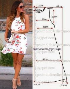 Pin by paty vizcaino on trazos para aprender - Crochetfornovices. - Best Sewing Tips Easy Sewing Patterns, Clothing Patterns, Dress Patterns, Pattern Dress, Sewing Clothes, Diy Clothes, Short Dresses, Summer Dresses, Fashion Sewing