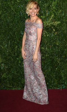 Sienna Miller Stuns In A Semi-Sheer Burberry Gown - Monday 1st December at the British Fashion Awards.