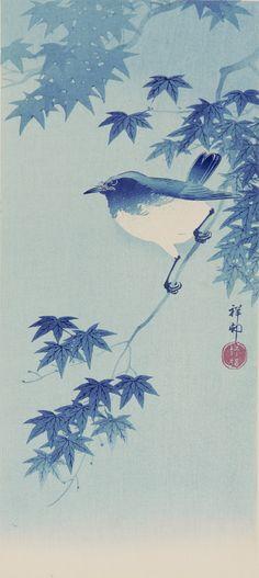 Bird 1890-1919  Ohara Koson , (Japanese, 1877 - 1945)   Woodblock print; color on paper H: 38.7 W: 17.8 cm Japan  S2001.16