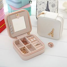 Cheap earring display box, Buy Quality earring display stand directly from China earrings cartilage Suppliers: 	start			makeup organizer South Korea jewelry box plastic t...US $231.34				 turn desktop cosmetics storage box with a l