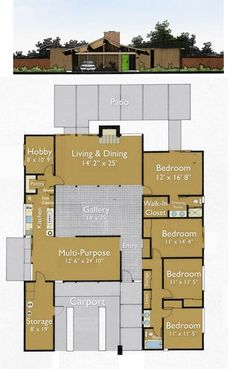 Build an eichler ranch house 8 original design house Eichler atrium floor plan