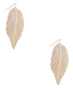 Metal Feather Earrings  $3.80