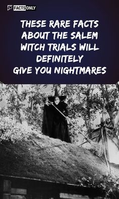 you believe they used the brooms for self-pleasure?Can you believe they used the brooms for self-pleasure? Facts About Witches, Salem Witch Trials Facts, Witch History, Haunted History, Old English Words, Real Witches, Meaningful Pictures, Creepy Facts, Real Ghosts