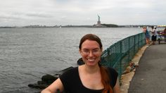 Me and the Statue of Liberty. Labor Day on Governor's Island.