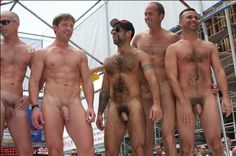 Group naked men