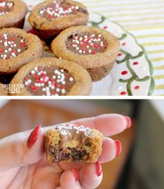 Gluten-Free Peanut Butter Chocolate Chip Cookie Cups! So easy, and you can't even tell they're GF!  #sp