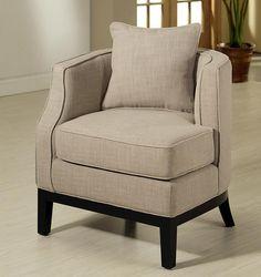 Abbyson Living Eve Fabric Corner Chair in Beige
