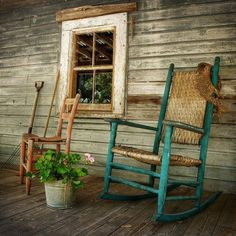 Rocking chairs and front porches...two of my favorite things with my favorite guy