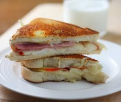 Ham and Apple Grilled Cheese Sandwich