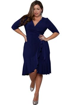 What's new @ www.sexyheksielingerie.com  Dark Blue Plus Si... Follow link http://sexyheksie.myshopify.com/products/dark-blue-plus-size-v-neck-wrap-dress?utm_campaign=social_autopilot&utm_source=pin&utm_medium=pin