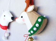 PDF pattern Reindeer and Polar bear Felt Christmas por iManuFatti