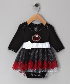 Take a look at this Black Angels in Lace Skirted Bodysuit by Stephan Baby on #zulily today!
