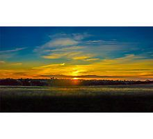Sunset on the Calder Photographic Print