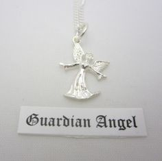 Sterling Silver Guardian Angel Pendant and Chain