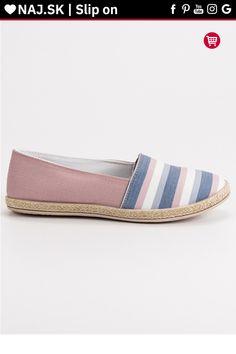 Pruhované ružové slip on Sweet Shoes Espadrilles, Slip On, Sweet, Fashion, Espadrilles Outfit, Candy, Moda, Fashion Styles, Fashion Illustrations