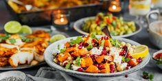 6 sunne koldtbordretter som virkelig smaker | Coop Mega Couscous, Bruschetta, Scampi, Cobb Salad, Side Dishes, Food And Drink, Chicken, Healthy, Ethnic Recipes