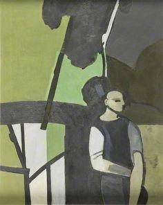 Woodman in a clearing - John Keith Vaughan paintings
