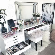 Makeup Room Setup Makeup Room Furniture Makeup Room Design Makeup Room Wall Decor Makeup Room Wall Art Makeup Room Housekeeping #Makeup #Room #Ideas