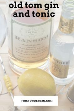 Take your average Gin and Tonic cocktail up a notch by using Old Tom gin instead. The sweeter and maltier flavors of this gin pair with lemon. Gin And Tonic Cans, Tonic Drink, Gin Recipes, Gin Cocktail Recipes, Cocktails, London Dry Gin, Gin Lovers, Mixed Drinks, Smoothies