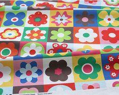 Scandinavian Style Nordic Vivid 34 Flower Pattern Fabric