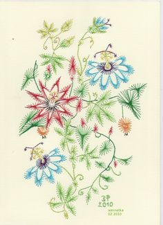 Absolutely fantastic paper embroidery cards - Pinbroidery - Projekt własny by Wernakta