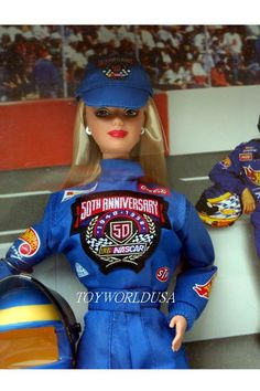Nascar Barbie- I'm not into Barbie but I was at the 50th and my man Ryan won it. I'd love to have this for my collection.