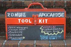 Vanessa Alvarado: Chalkboard Toolbox DIY: For Your Tools....or a Zom...