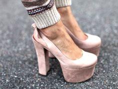 Pink Suede Almost Stripper Heels