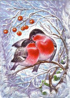 снегири - Схемы вышивки - СветланаКузнецова1984 - Авторы - Портал «Вышивка крестом»