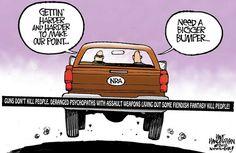 #GunHumor #Cartoon #NRA #Bumpersticker #Funny #DefendGunRights #GunControl #GunRights #SecondAmendment #2ndAmendment #therighttobeararms #guns