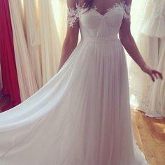 Sweetheart white chiffon long prom dress,a-line lace long prom dress,formal dress,evening dress,pd160482