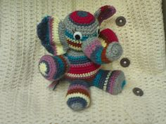 Stripey stashbuster elephant..... link to free pattern