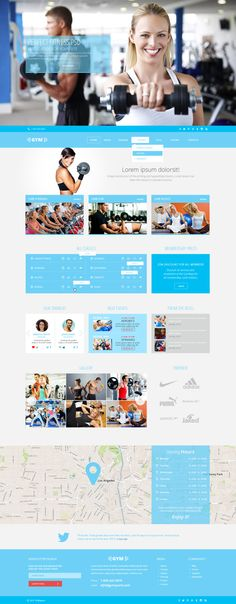 GYMSports - Free PSD Template (9 pages)