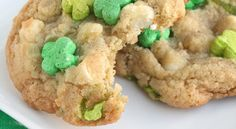White chocolate chip cookies with a twist: marshmallow cereal bits!