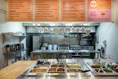 Opening Alert: San Antonio Chef Jesse Perez Starts Rolling Burritos at Oxido Mexican Restaurant Design, Small Restaurant Design, Fast Casual Restaurant, Restaurant Concept, Modern Restaurant, Restaurant Kitchen, Fast Food Restaurant, Bakery Kitchen, Restaurant Ideas