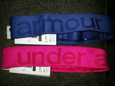 Under Armour headbands. $11/each, buy one get one half off! Two for $19 w/ tax at Dick's Sporting Goods right now!