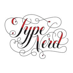 Type Nerd temporary tattoo (but why would you want this as a temp tatt?). #tattly #lettering