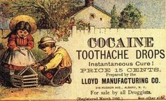 a simpler time indeed! Vintage Advertising Campaign Cocaine Toothache Drops…a simpler time indeed! Advertisement Description Cocaine Toothache Drops…a simpler time indeed! Sharing is love !