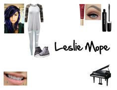 """Leslie Mope"" by hood96-exe ❤ liked on Polyvore featuring Converse, Marc Jacobs and Too Faced Cosmetics"