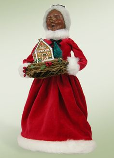 """African American Mrs. Claus w/ Gingerbread"" a member of Santa Designs."
