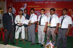 sensei P.K.Gopalakrishnan to present to medal & certificate to my student kanaga raj