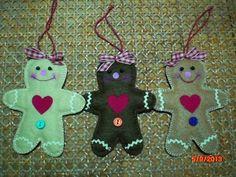Ginger cookies para colgar en el árbol de navidad