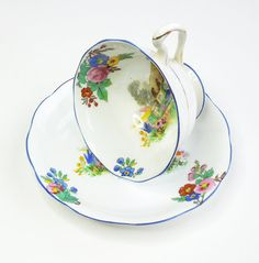 Royal Albert A bit of Old England tea cup and saucer set  by indiecreativ, $89.00